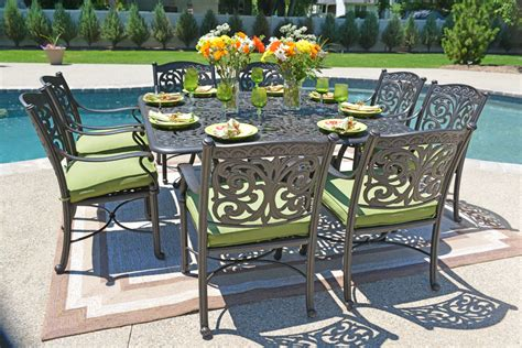 aluminum outdoor furniture sets cast aluminum patio furniture cast aluminum