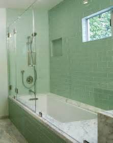 subway tile in bathroom ideas 20 amazing pictures of bathroom makeovers with glass tile