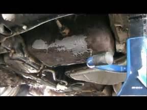 rusty oil pan repair with jb weld on a 2002 pontiac grand prix diy youtube