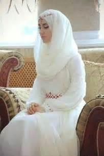 Koleksi gambar baju pengantin muslim modern putih elegan holidays oo