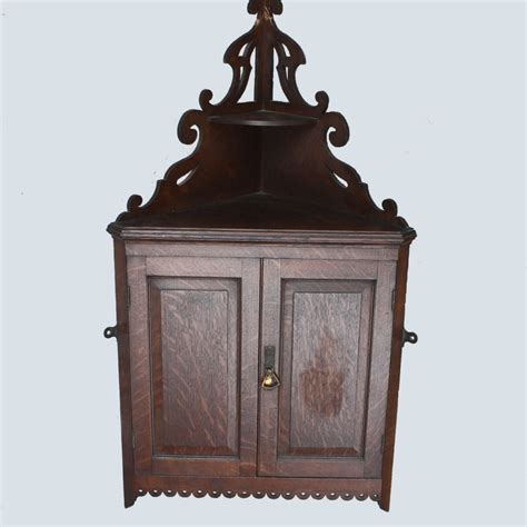 Hanging China Cabinet by Bargain S Antiques 187 Archive Antique Hanging Oak
