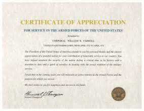 How To Create A Certificate Template by Army Certificate Of Appreciation Template How To Make A