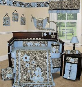 baby boutique blue zebra 14 pcs boy crib bedding