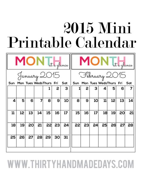 small printable weekly calendar 10 best images of printable mini monthly calendar 2016