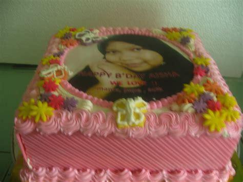 Topper Kue Tart Atau Cookie fiasti cakes edible cake untuk icha