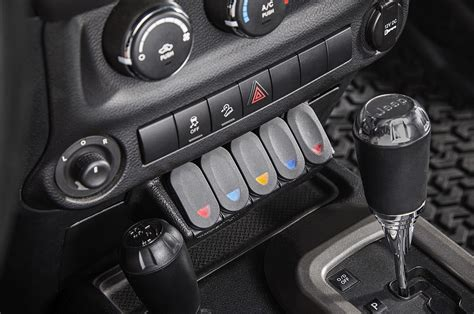 console switch rugged ridge 17235 54 lower console switch panel for 11 17