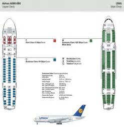 Airbus A380 Floor Plan by Lufthansa Airlines Airbus A380 800 Airline Seating Map