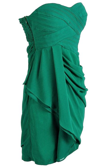 draped gowns draped chiffon dress in green favething com