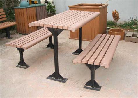 composite garden bench green environment outdoor wpc bench for park