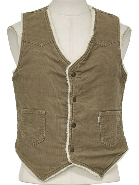 Corduroy Vest 70s vintage levis vest 70s levis mens cotton