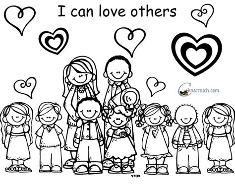 love one another coloring page lds love one another coloring page