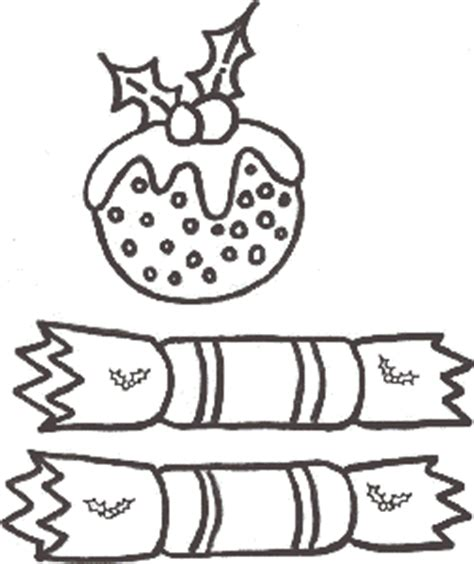 colouring pages christmas pudding christmas pudding crackers coloring sheet
