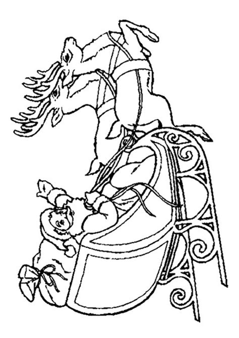 coloring page of santa in his sleigh free coloring pages of santa in his sleigh