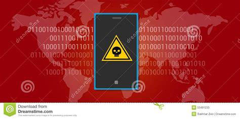 scan mobile phone for virus data virus malware mobile phone stock vector