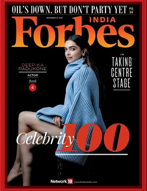 deepika padukone forbes deepika padukone emerges as the only female actress in the