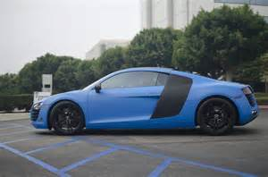 matte blue audi r8 by axion23 fast to drive