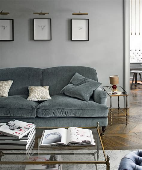 wallpaper to go with grey sofa grey living room ideas ideal home