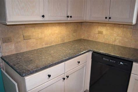 Granite Tile Countertop No Grout Roselawnlutheran Tiled Kitchen Countertops