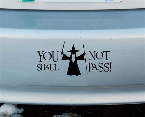 gandalf you shall not pass lotr vinyl sticker car window door bumper decal lord of the rings on