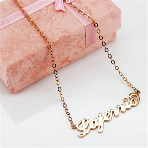 S925 Necklace gold s925 silver personalized name necklace