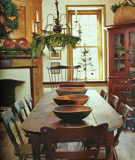 Early American Dining Room Furniture by Eye For Design Decorating In The Primitive Colonial Style