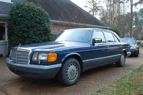 purchase new mercedes benz 560sel 1987 for sale low mileage in ridgeland mississippi