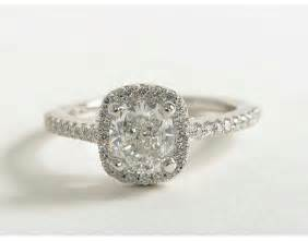 Cushion Cut Halo Engagement Rings 1 25 Carat Cushion Cut Halo Engagement