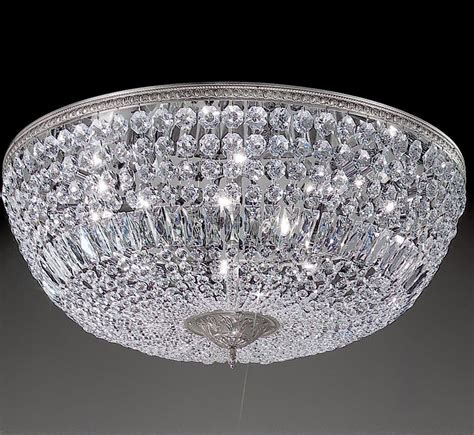 large flush mount ceiling light crystal baskets collection 30 dia extra large brass