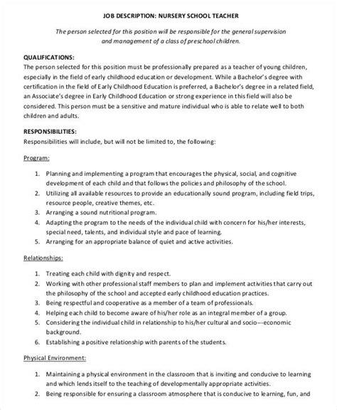 preschool description 10 preschool descriptions in pdf free