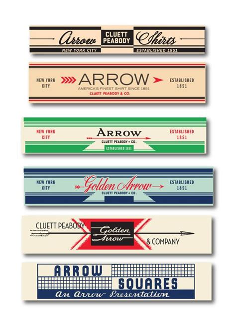 arrow cluett labels and packaging by glenn wolk via arrow cluett labels and packaging by glenn wolk design