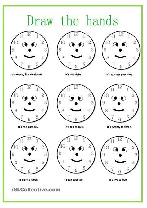 what time is it worksheet free esl printable worksheets