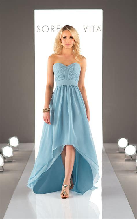 chiffon high low bridesmaid dress sorella vita