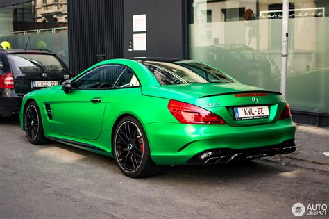 green mercedes mercedes amg sl 63 also knows how to rock green hell magno