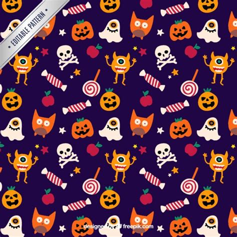 cute halloween pattern cute halloween pattern vector premium download