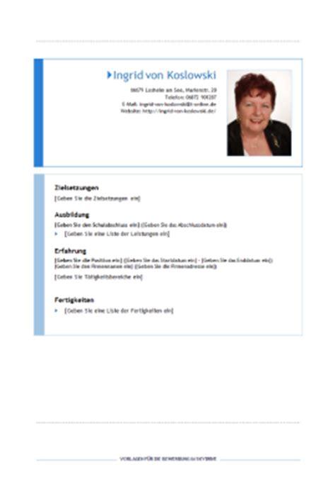 Aufbau Antichronologischer Lebenslauf Vorlagen Bewerbung Richtig Bewerben Mit Office 2010