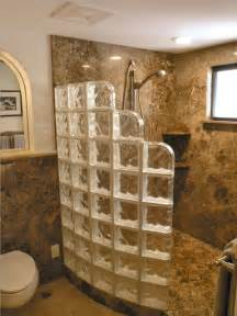 glass block bathroom ideas glass block walk in showers sims remodeling