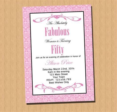 free printable invitations 50th birthday 50th birthday invitation printable invitation pink damask