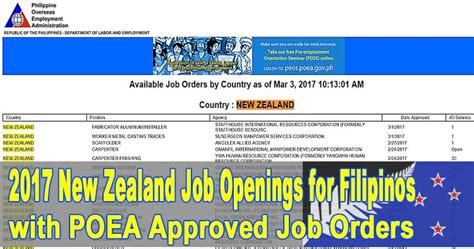 new zealand job new zealand job openings for filipinos in 2017 vacant