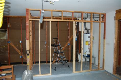 framing a room building my laundry room in the garage my house before during and after