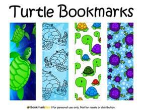 printable turtle bookmarks