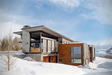 jackson hole contemporary log cabin designshuffle blog rustic modern vacation home in wyoming hiconsumption
