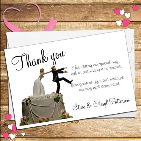 Wedding Cards Designer Vacancy by 10 Personalised Wedding Holding Groom Thank You