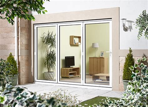 External Patio Doors Aluminium Bifold Doors External Back Doors In White