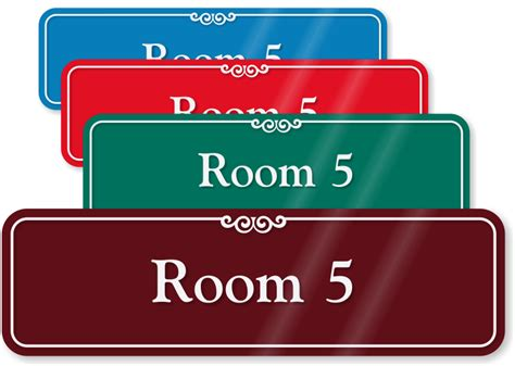 room number signs showcase room number signs