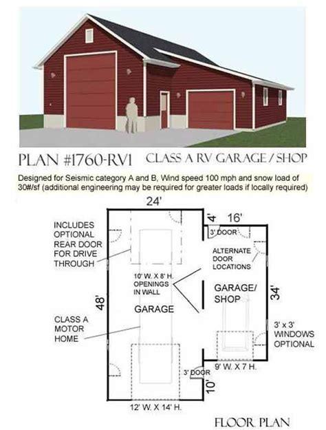Rv Storage Plans by Best 25 Rv Garage Ideas On Rv Garage Plans