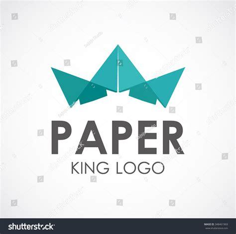 vector crown logo design abstract logo template vector paper king of crown abstract vector and logo design or