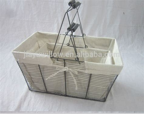 Handmade Laundry Basket - handmade wire storage basket with cover wire laundry