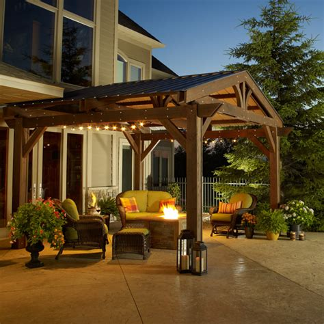 outdoor room designs the lodge pergola by the outdoor greatroom company
