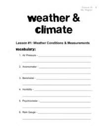 climate and weather worksheets davezan