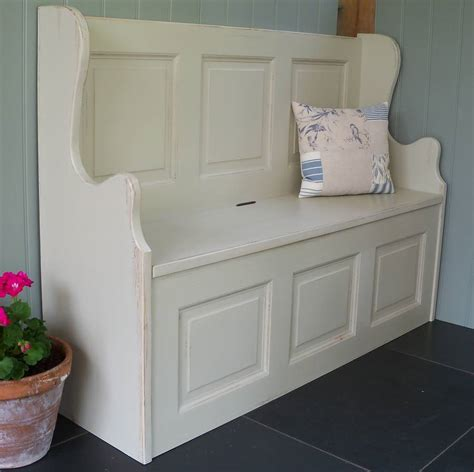 white monks bench three seater monks bench hand painted in any colour by